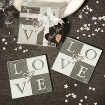 Love Glass Coasters (Set Of 2)