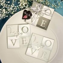 Mirror Finish Love Coaster Sets