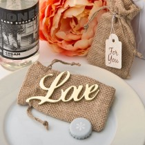 shabby chic Gold Love Bottle opener from fashioncraft