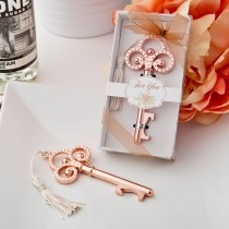 Rose Gold Vintage skeleton key bottle opener from fashioncraft