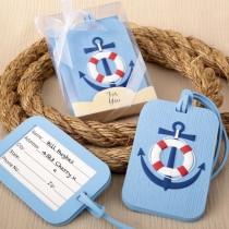 Nautical themed luggage tag