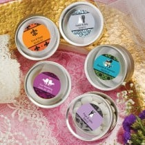 Personalized Expressions Collection Silver Mint Tin Favors