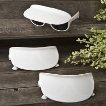 Unique white sunglass and visor combination