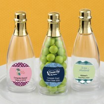Design your own collection personalized champagne bottle with gold foil top: graduation designs