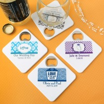 Clearly custom Coaster / bottle opener from fashioncraft