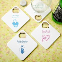 Personalized expressions Coaster / bottle opener - baby