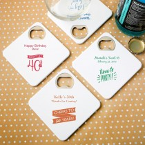 Personalized expressions Coaster / bottle opener - birthday