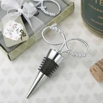Infinity design chrome silver bottle stopper