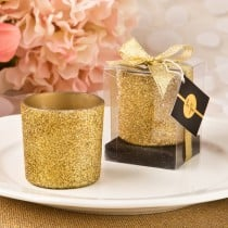 Bling Collection gold glitter candle votive from fashioncraft