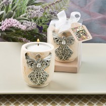 Exquisite angel design candle tea light holder from fashioncraft