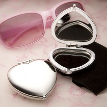Heart Shaped Compact Mirror Favors