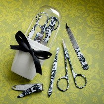 Pretty Damask  Design Manicure Sets