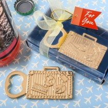 gold suitcase metal bottle opener