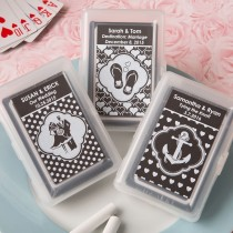 Chalk Board Collection Playing Card Favors for weddings