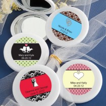 Personalized Expressions Collection Mirror Compact Favors - Love Theme