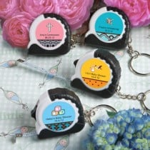 Personalized  Expressions Collection Key Chain/Measuring Tape Favors