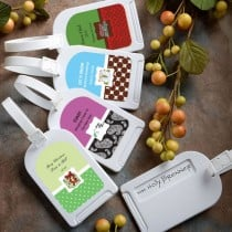 Design Your Own Collection Luggage Tag Favors - Holiday Themed