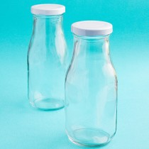 Perfectly Plain Collection Vintage Style Milk Bottles