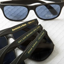personalized metallics collection black sunglasses from fashioncraft