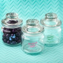 Screen Printed Glass Jar With Sealed Cover - Baby Shower