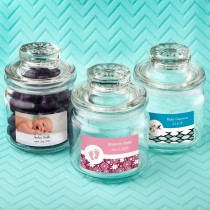 Personalized Expressions Collection Glass Jar With Sealed Cover - Baby Shower