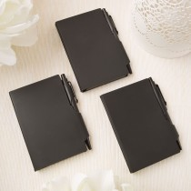 Perfectly plain collection black hard molded plastic notebook