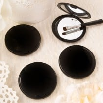 Black compact mirror from Fashioncraft's Perfectly Plain Collection