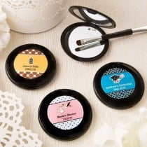 Personalized black compact mirror from the personalized expressions collection.