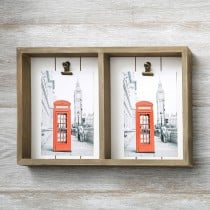 wood double 4 x 6 box frame with 2 clips