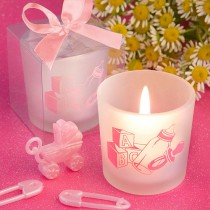 Favor  Saver Collection Baby Girl Themed Candle Favors