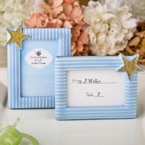 Blue and Gold photo frame / placecard frame from fashioncraft