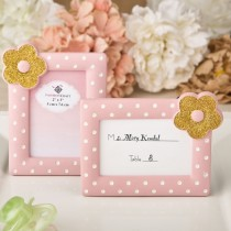 Pink and Gold photo frame / placecard frame from fashioncraft