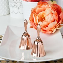 Rose gold metal kissing bell or wedding bell from fashioncraft