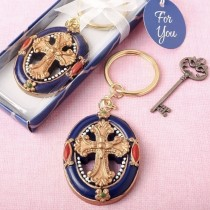 Gold Cross themed Keychain from fashioncraft