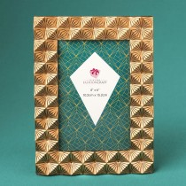 Antique copper Geometric 4 x 6 frame from gifts by fashioncraft