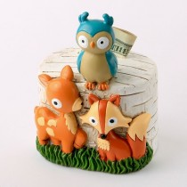 woodland animals bank from gifts by fashioncraft