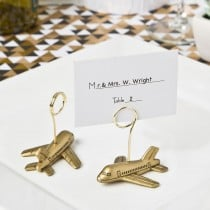 Airplane design placecard or photo holders from fashioncraft