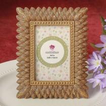 Brushed Gold leaf design place card frame / photo frame from fashioncraft