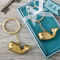 Whale design bronze key chain