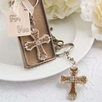 Vintage design cross themed key chain