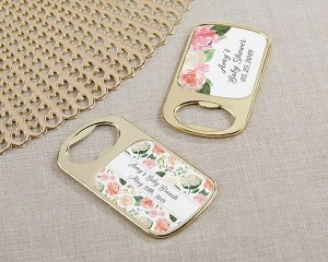 Personalized Gold Bottle Opener with Epoxy Dome - Baby Brunch