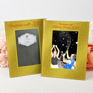 """Silk Screened Personalized Gold Wide border beveled Glass frame  4"""" x 6"""""""