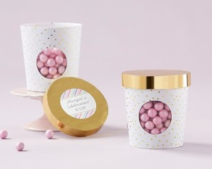 Ice Cream Favor Box - Gold Dot (Set of 12)