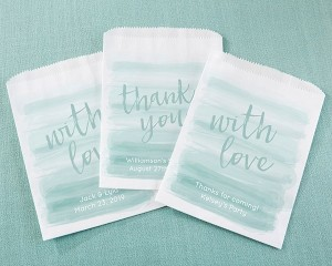 Personalized White Goodie Bags - Seaside Escape (Set of 12)