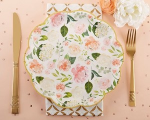 Floral Paper Plates (Set of 8)