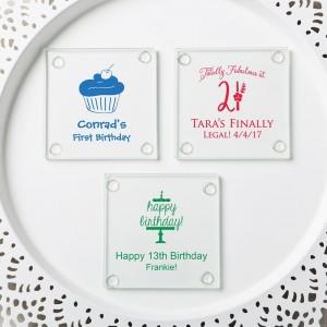 Personalized Stylish coasters from fashioncraft - birthday design