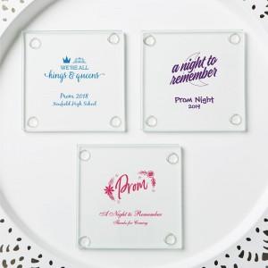 personalized stylish coasters - prom design