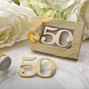 50th Design Golden bottle opener