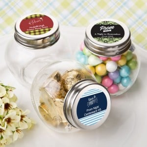 Personalized Candy Glass Jar - prom design