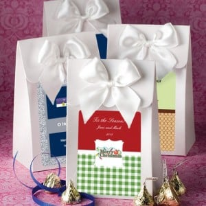 "White ""Delivered With Love"" Boxes From The Design Your Own Collection - Holiday Themed"